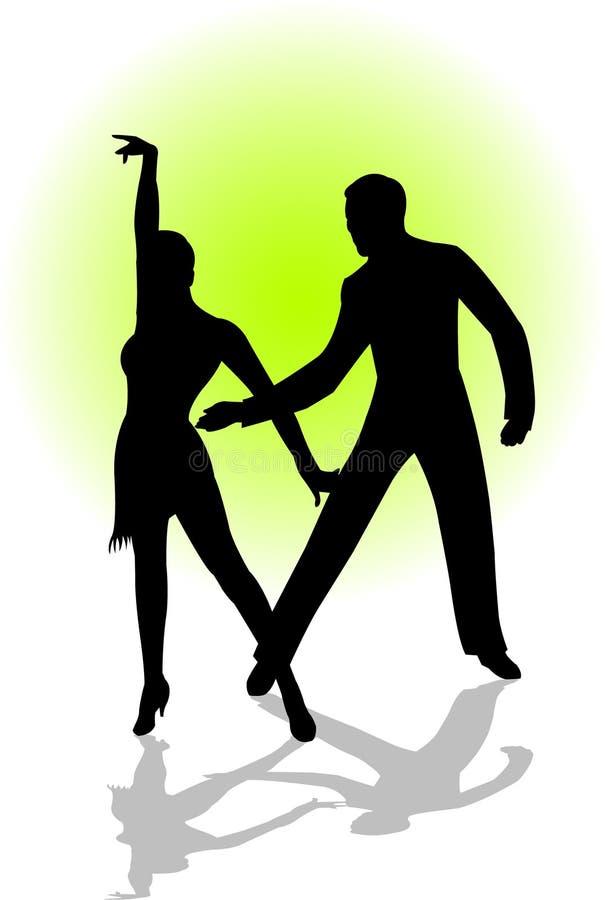 Pares de la danza stock de ilustración