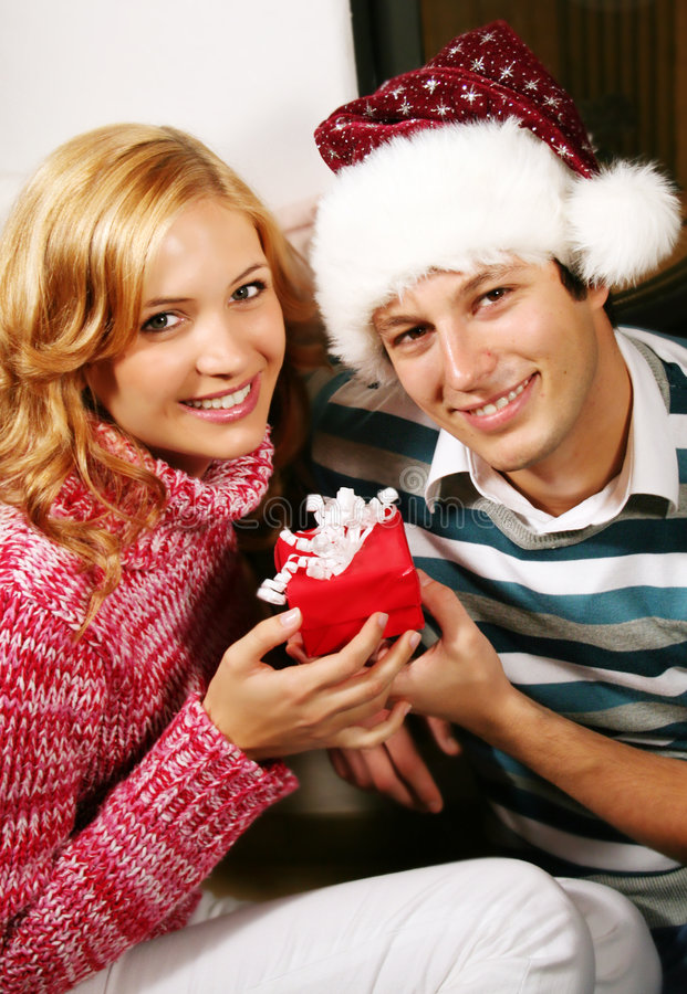 Pares de la Navidad fotos de archivo