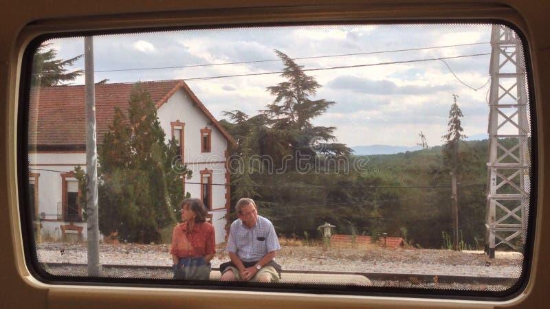 pares de la Tren-ventana foto de archivo libre de regalías