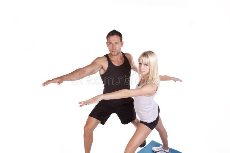 Pares de la yoga imagen de archivo libre de regalías