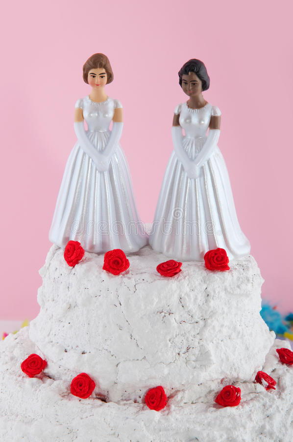 Pares de Lesbianwedding foto de stock