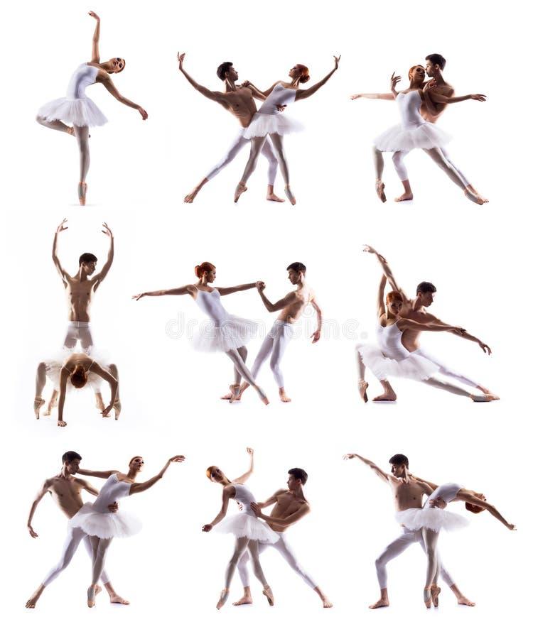 Pares de los bailarines de ballet moderno foto de archivo libre de regalías