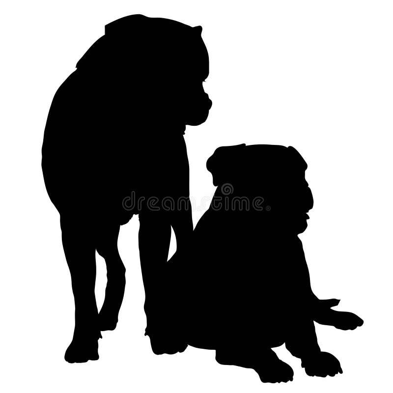 Pares de Mastif ilustración del vector