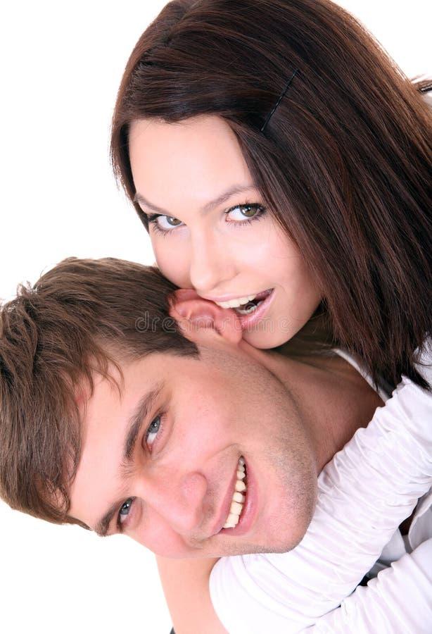 Pares de menina e de homem. Amor. fotos de stock