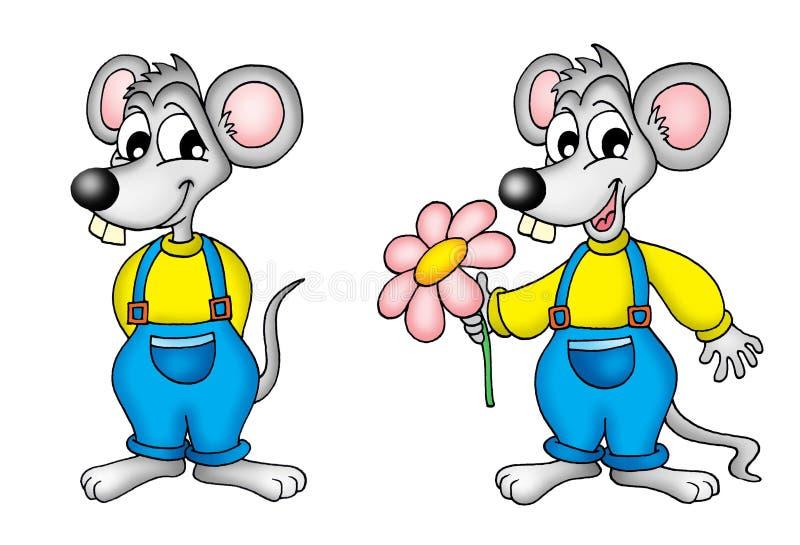 Pares de mouses ilustración del vector