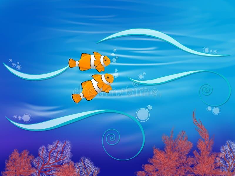Pares de Nemo ilustração royalty free