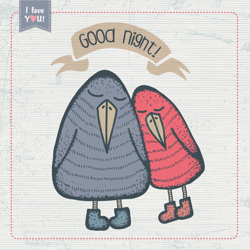 Pares de pájaros divertidos libre illustration