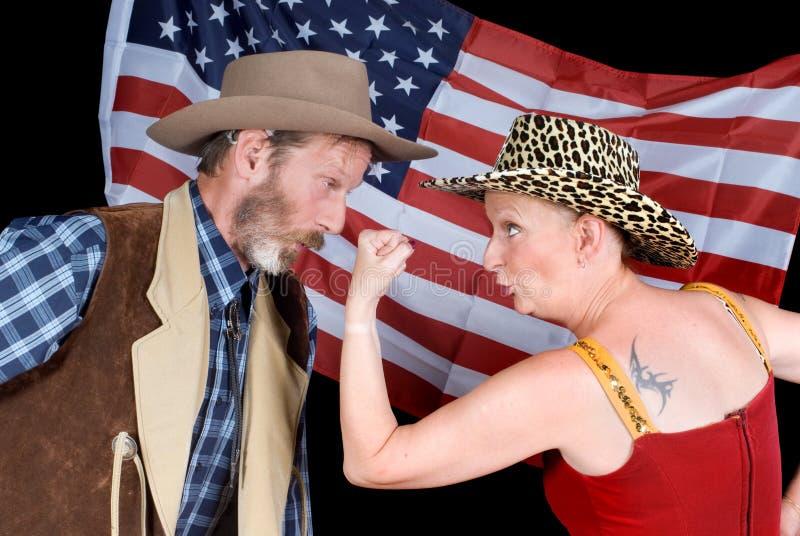 Pares de pelea del vaquero imagen de archivo libre de regalías