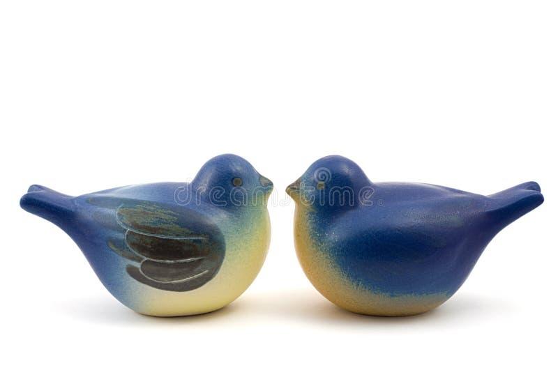 Pares de pombos da porcelana imagem de stock royalty free