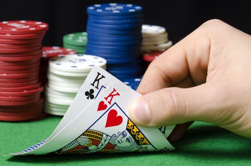 Pares de reyes en póker foto de archivo libre de regalías