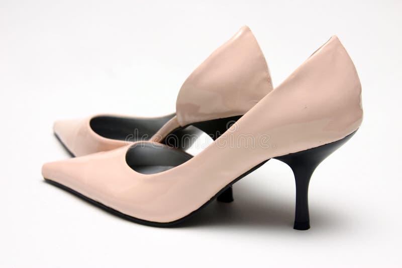 Pares de sapatas elevadas cor-de-rosa imagem de stock royalty free
