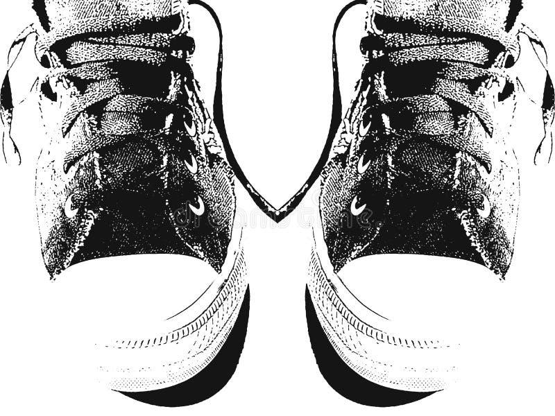 Pares de sapatilhas ilustração royalty free