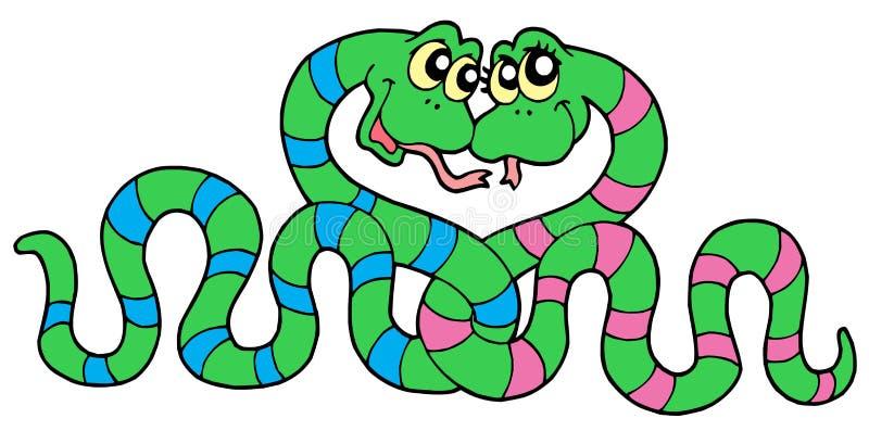 Pares de serpientes en amor libre illustration