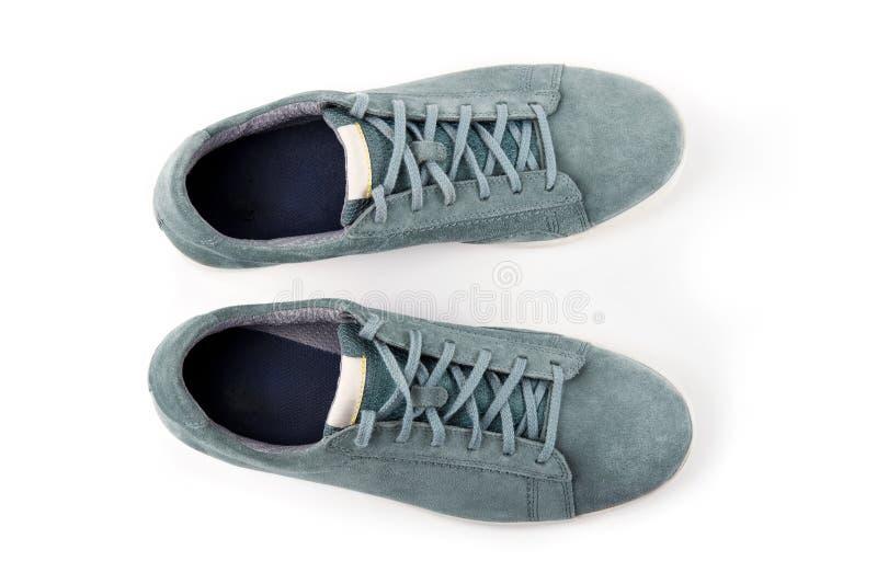 Pares de zapatos del ` s del hombre del ante fotografía de archivo