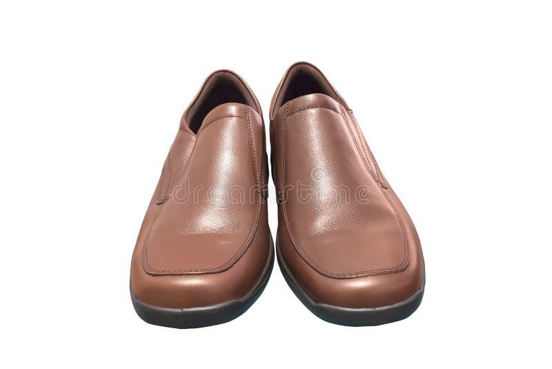 Pares de zapatos marrones masculinos fotos de archivo libres de regalías