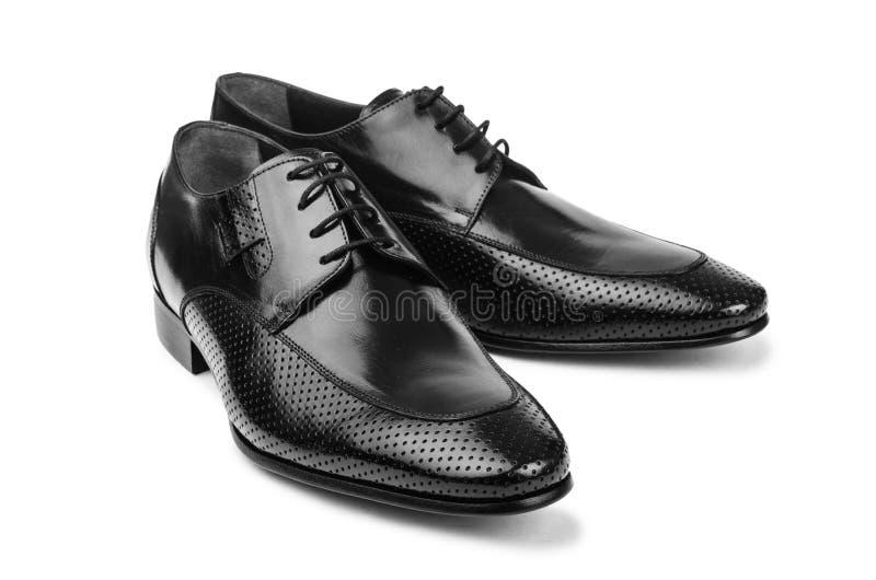 Pares de zapatos masculinos fotos de archivo