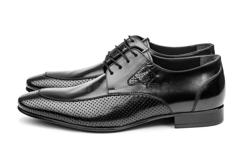 Pares de zapatos masculinos fotografía de archivo