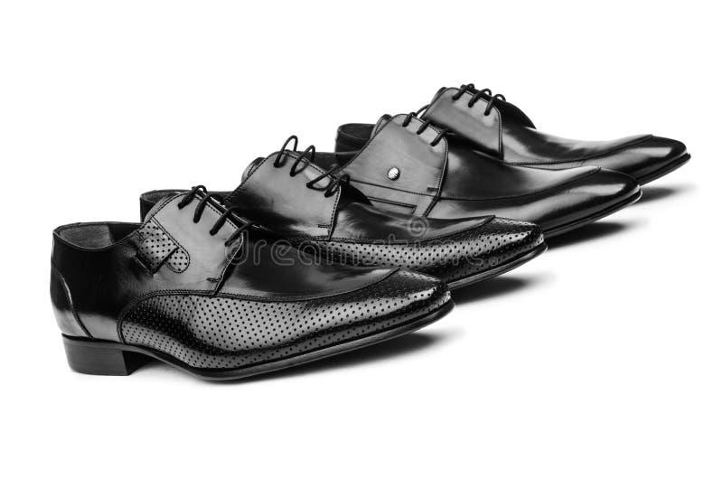 Pares de zapatos masculinos imagen de archivo