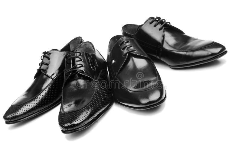 Pares de zapatos masculinos imágenes de archivo libres de regalías