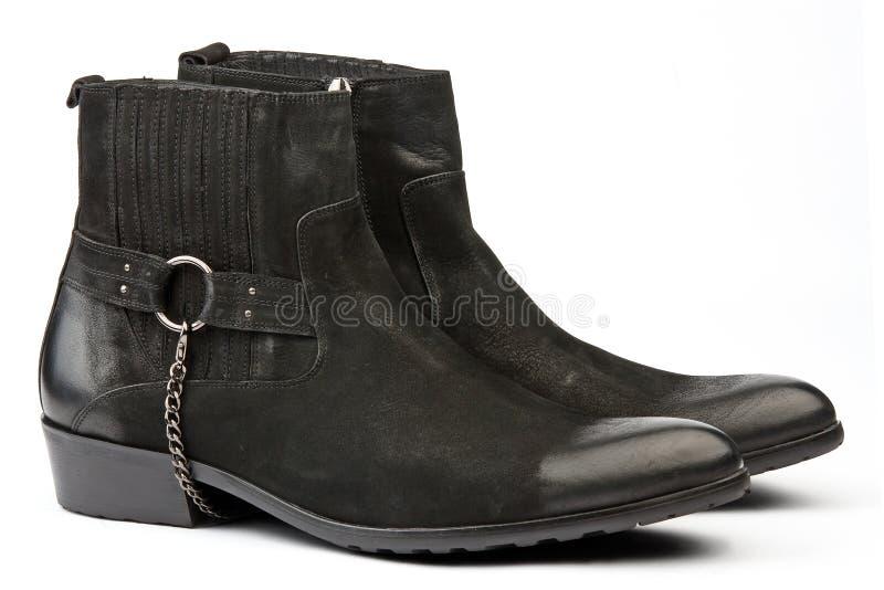 Pares de zapatos occidentales masculinos negros del slyle imágenes de archivo libres de regalías