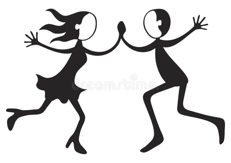 Pares del baile stock de ilustración