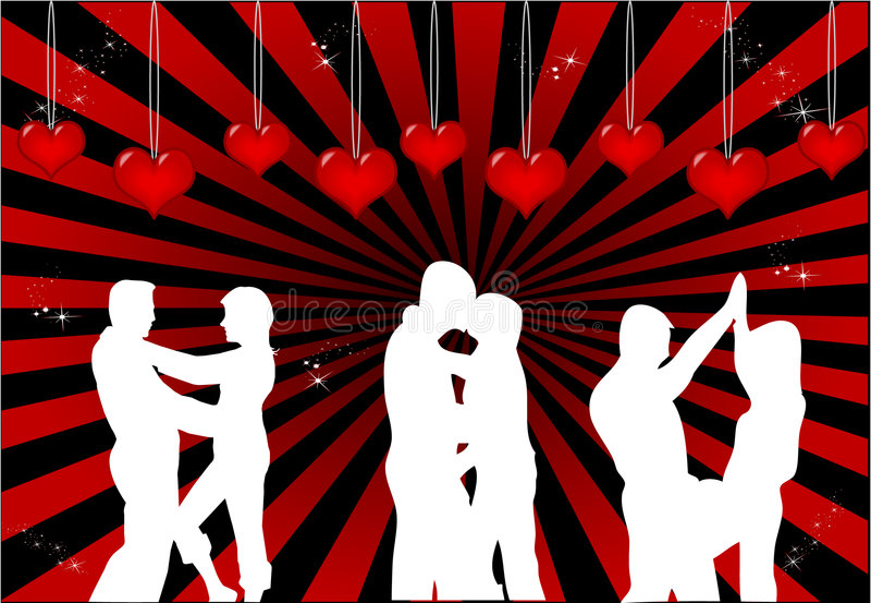 Pares del baile libre illustration
