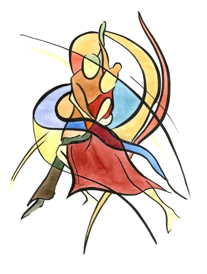 Pares del baile? aislados en blanco stock de ilustración