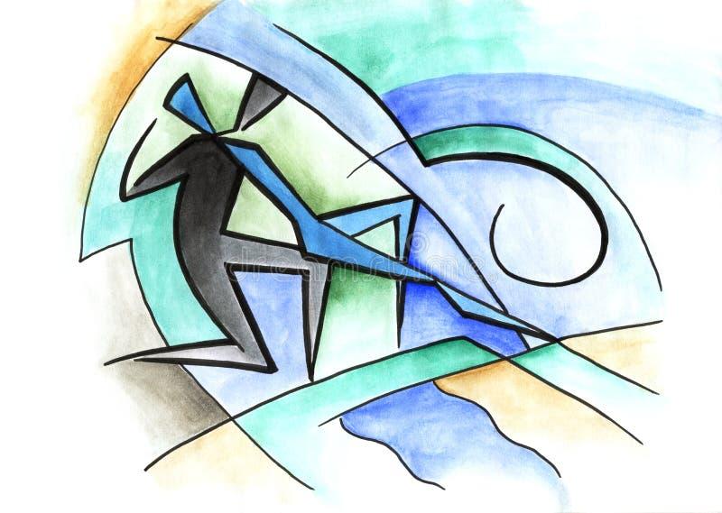 Pares del baile? aislados en blanco libre illustration