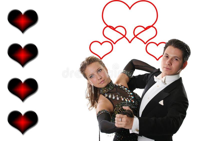 Pares del baile del amor imágenes de archivo libres de regalías
