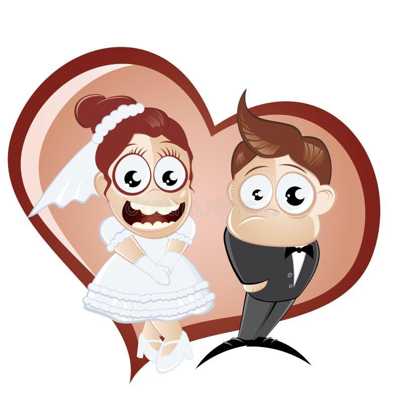 Pares del día de boda ilustración del vector