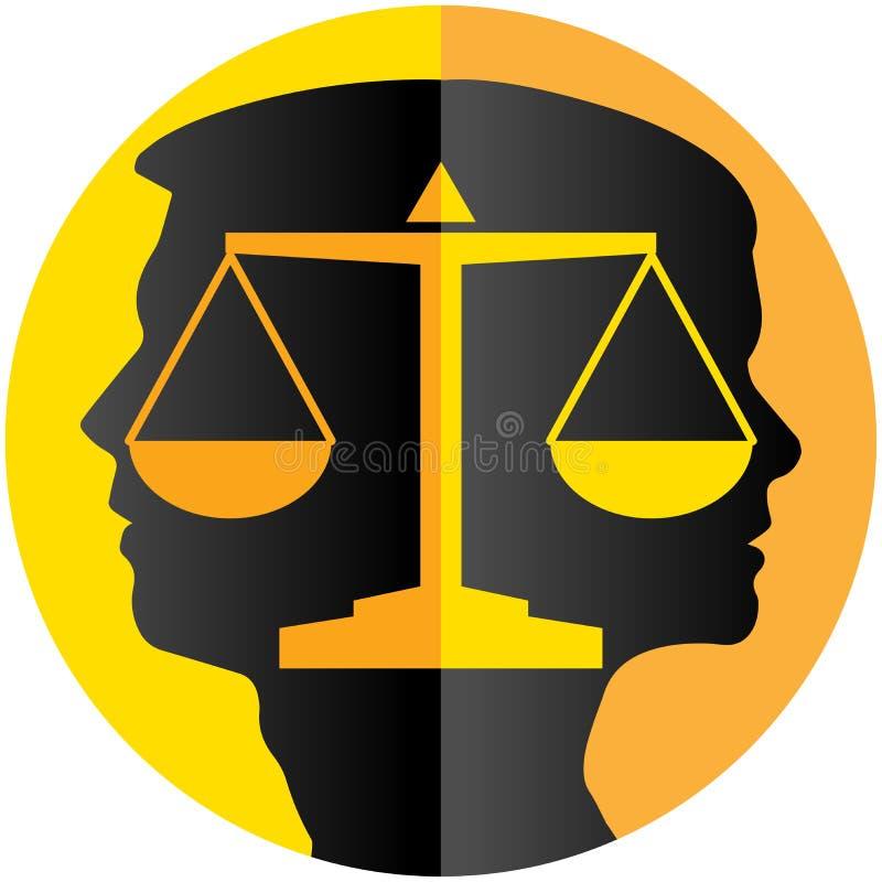 Pares del divorcio ilustración del vector