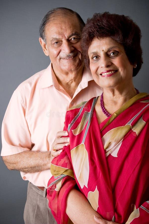 Pares del indio del este de los ancianos imagen de archivo libre de regalías