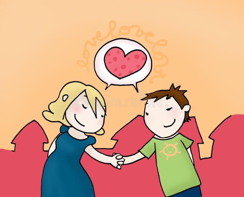 Pares do amor ilustração stock
