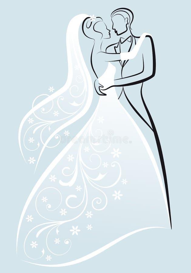 Pares do casamento,   ilustração royalty free