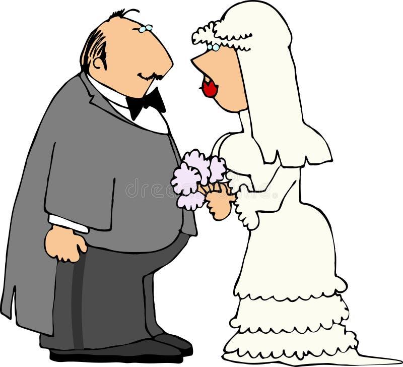 Pares do casamento ilustração royalty free