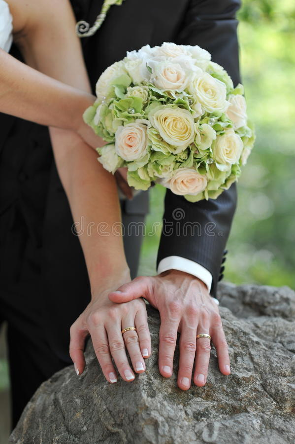 Pares do casamento imagem de stock royalty free