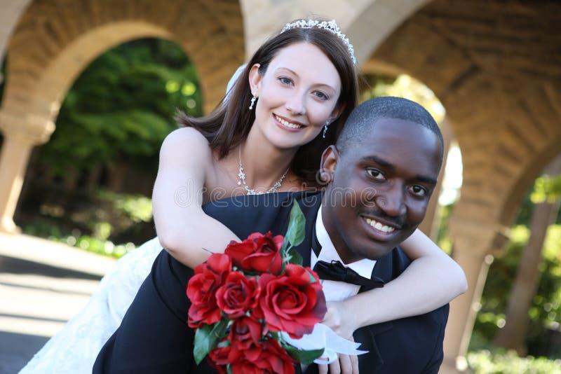 Pares do casamento do homem e da mulher imagem de stock royalty free