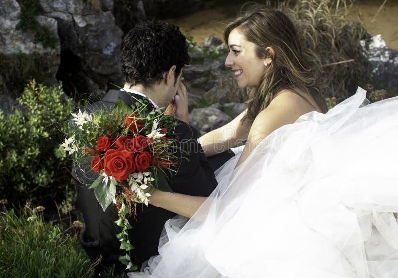 Pares do casamento dos pares foto de stock royalty free
