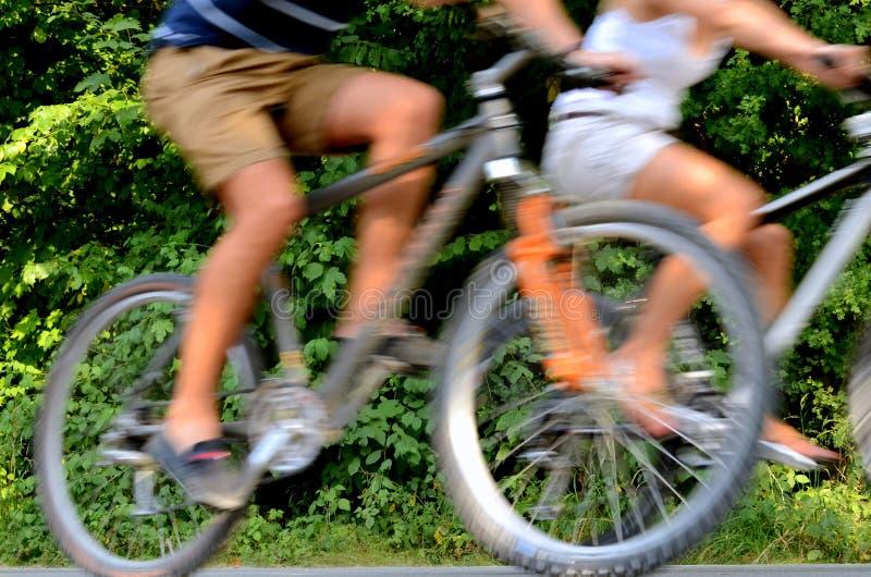Pares do ciclismo fotografia de stock royalty free