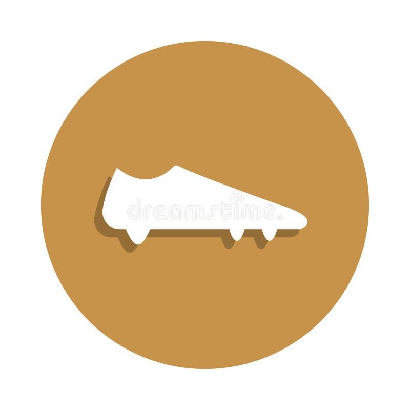 Pares do futebol de ícone das botas no estilo do crachá Um do ícone da coleção da roupa pode ser usado para UI, UX ilustração royalty free