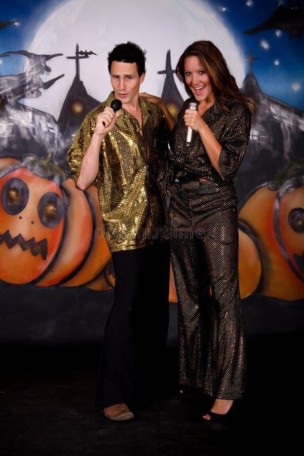 Pares do glitter de Halloween foto de stock