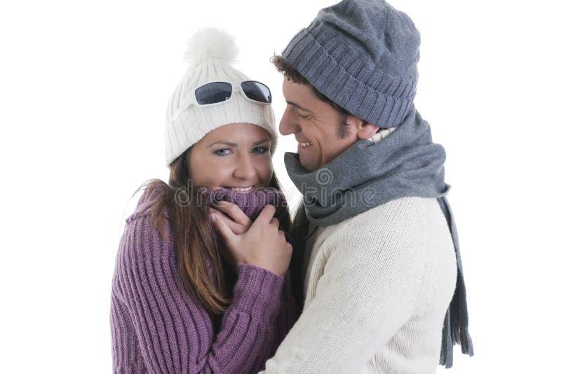Download Pares do inverno foto de stock. Imagem de retrato, romance - 16866914