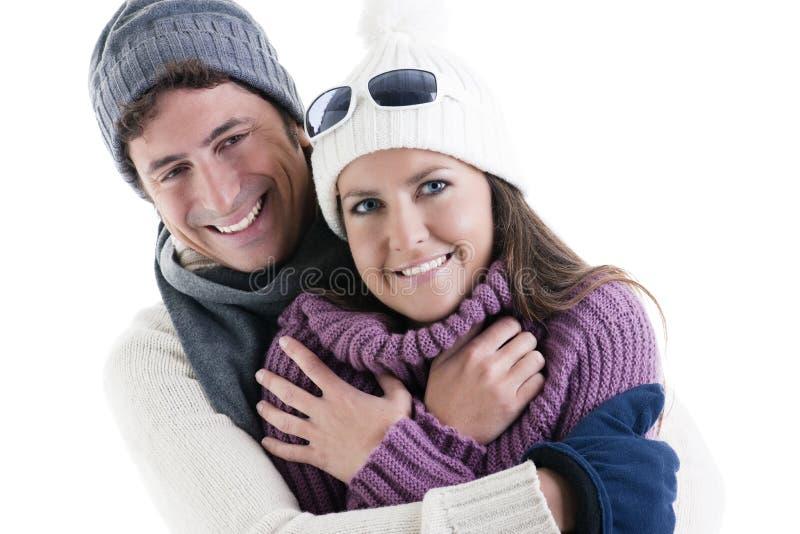 Download Pares do inverno imagem de stock. Imagem de amor, embracing - 16867575