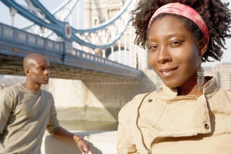 Pares do turista no retrato de Londres. fotografia de stock royalty free