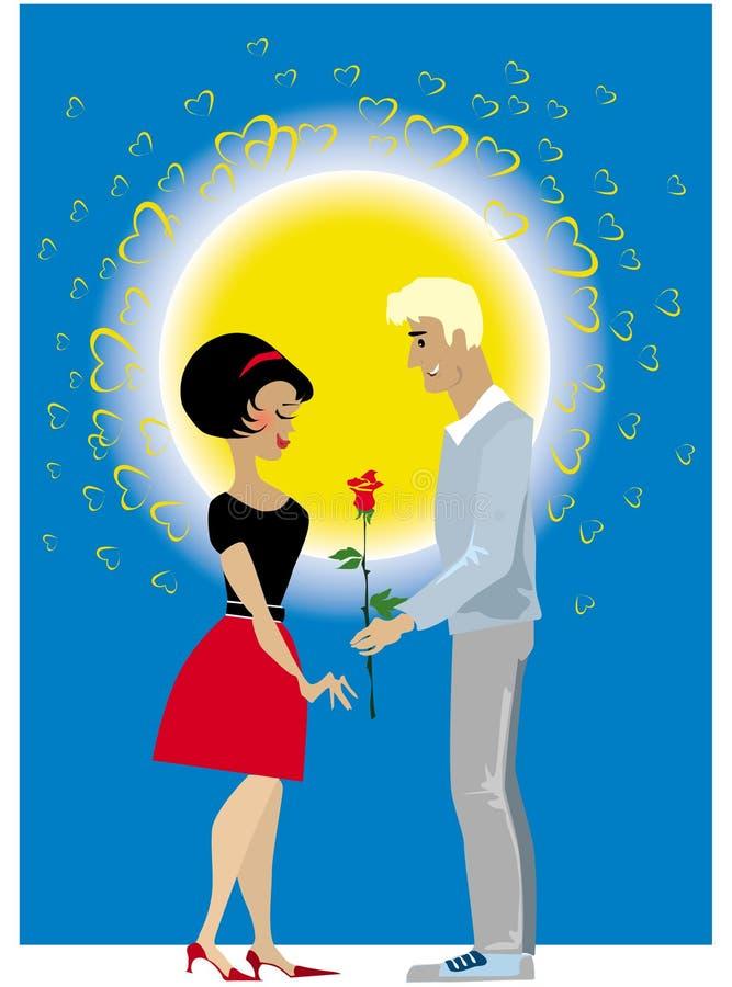 Pares do Valentim ilustração royalty free