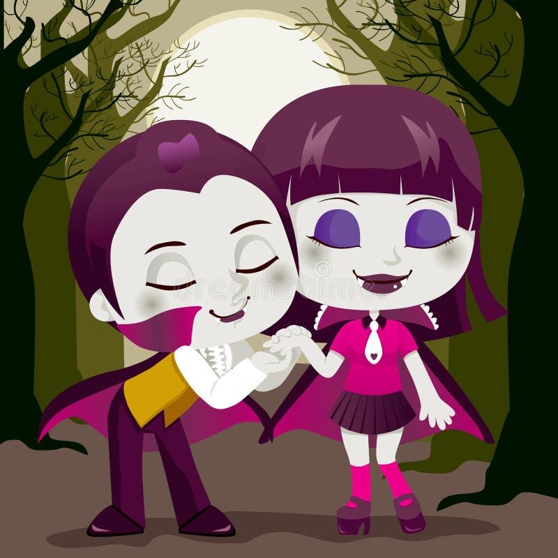 Pares do vampiro ilustração do vetor