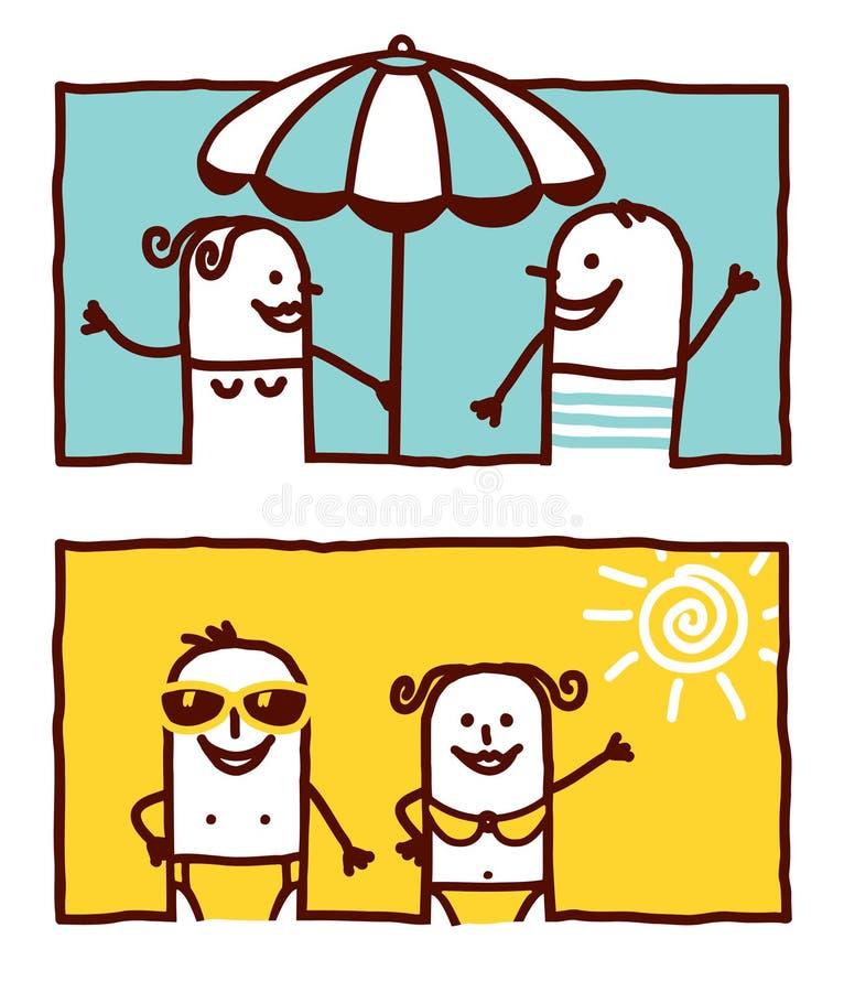 Pares do verão ilustração royalty free