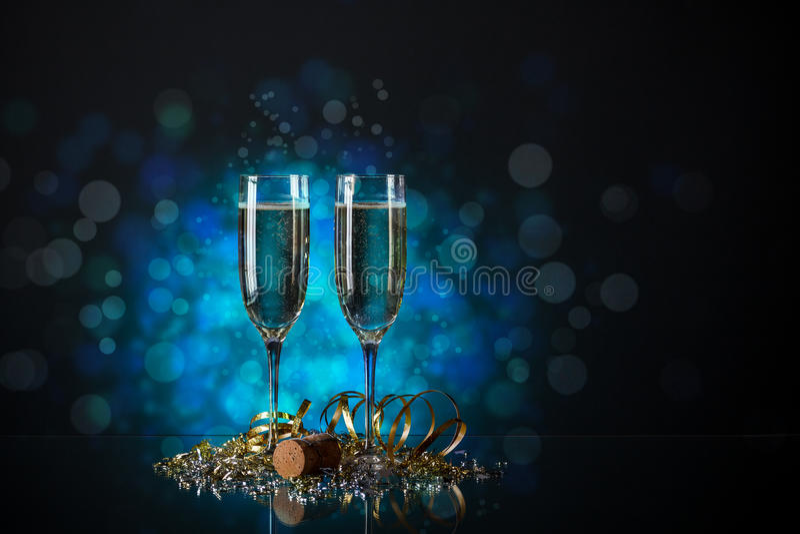 Pares do vidro do champanhe foto de stock