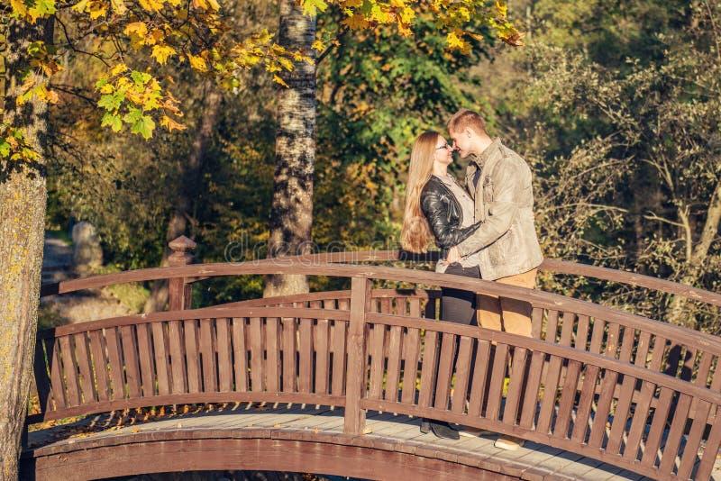 Pares em uma ponte imagens de stock royalty free