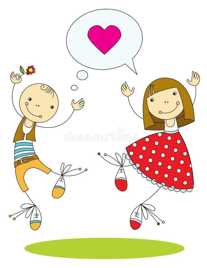 Pares en amor libre illustration